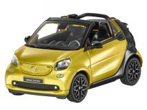 B6 6 96 0288 Norev 1:43 Smart fortwo cabriolet (A453) jaune / noir