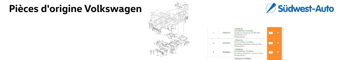 Volkswagen Catalogue Pièces d'origine